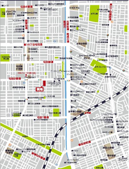 屯田4条2丁目 広域図
