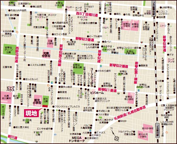 新琴似1条11丁目 広域図
