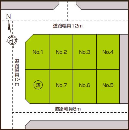 篠路1条2丁目 区画図