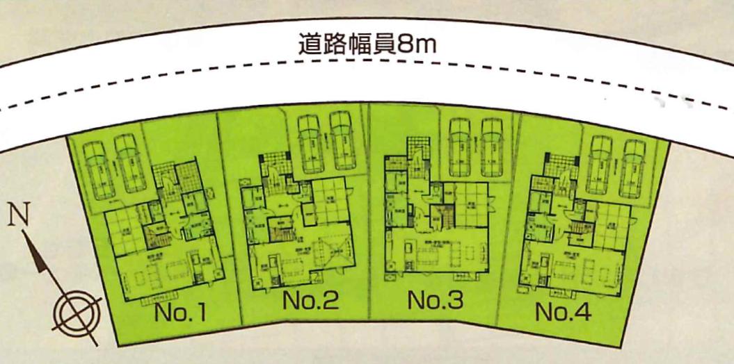 真栄4条1丁目 区画図